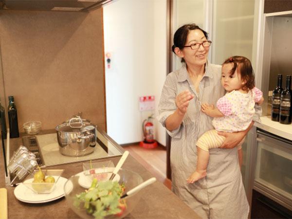 女性建築士が働く女性として、子育ての経験を活かします