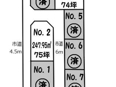 泉町1丁目分譲地全7区画